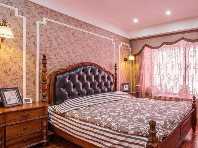 80平米三居室小户型装修主卧效果图