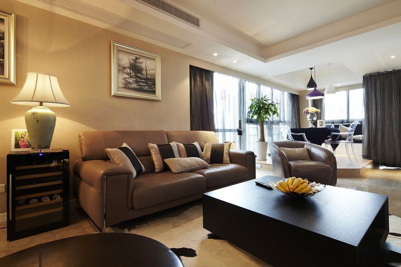 90平北欧装修风格客厅效果图