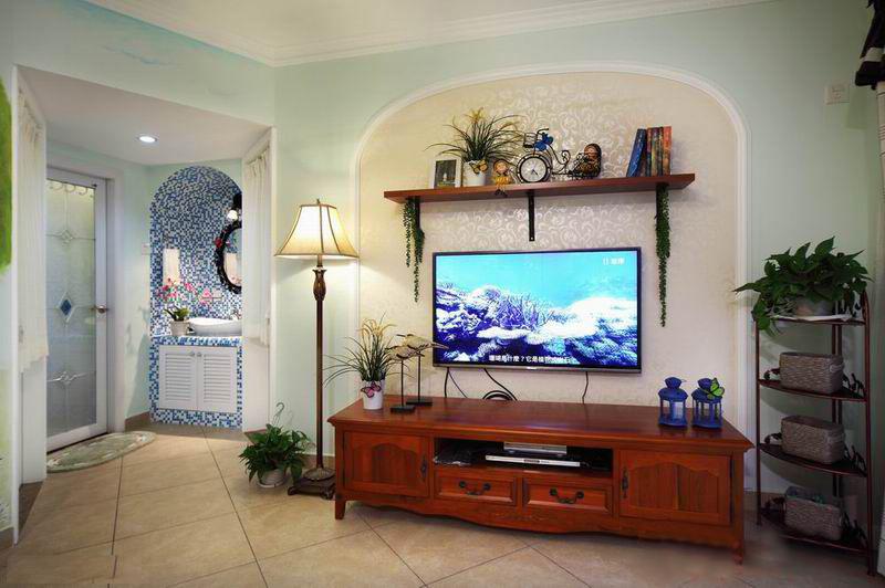 110平米美式田园装修风格客厅效果图