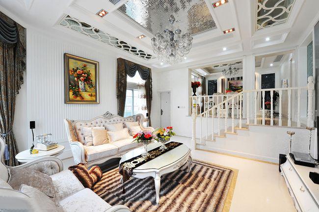 140平北欧现代客厅装修效果图