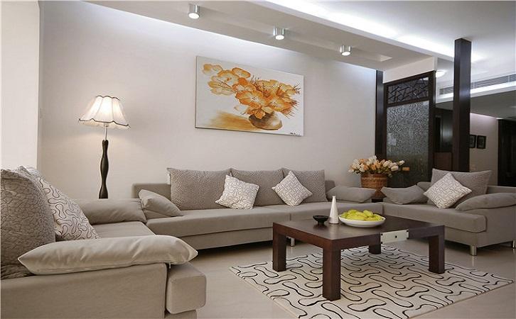 衡阳冠都现代城100平米新中式风格装修案例