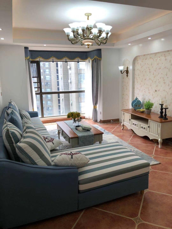 远大麓园90平3房2厅2卫简欧现代客厅效果图