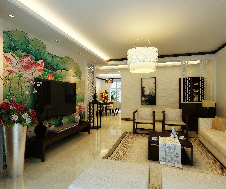 长沙时代年华110平米新中式风格装修案例