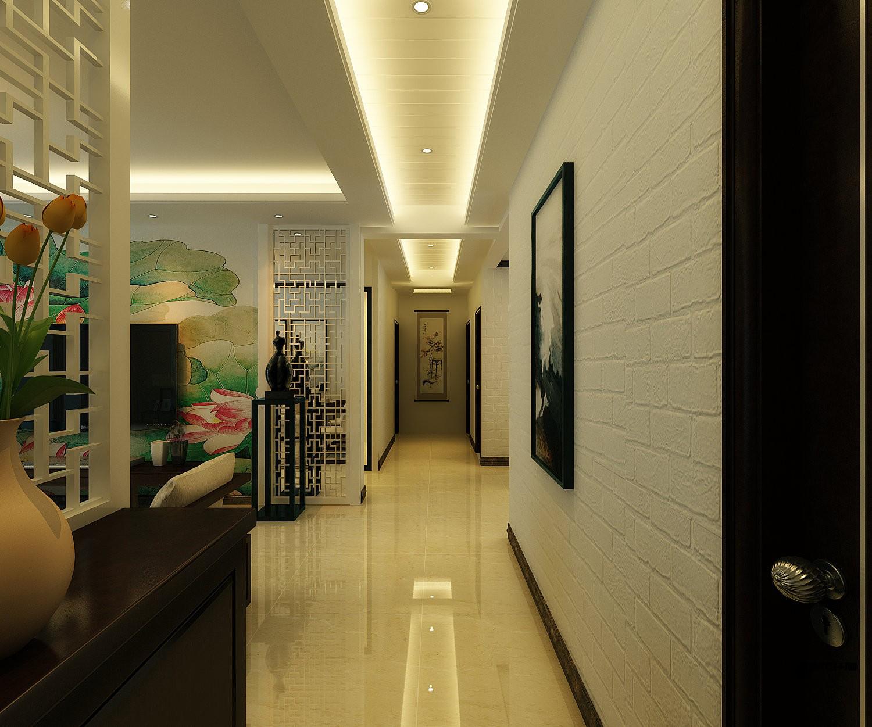 长沙110平米新中式风格过道图片