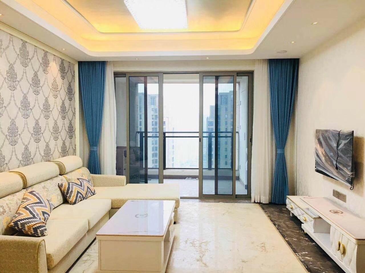 长沙金茂府100平米三房两厅北欧简约风格装修案例