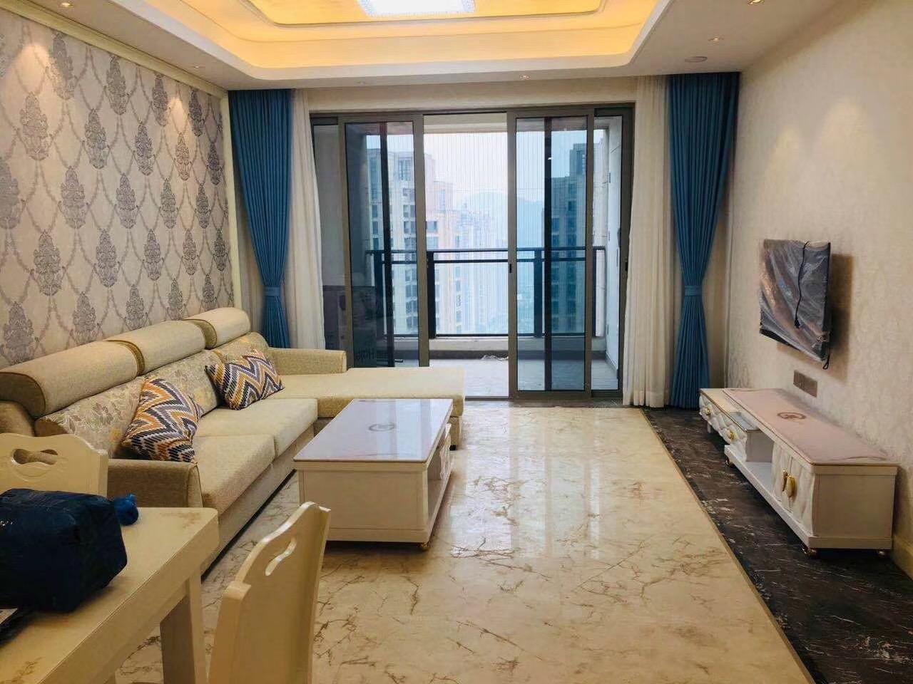 长沙100平米三房两厅北欧简约风格客厅展示图