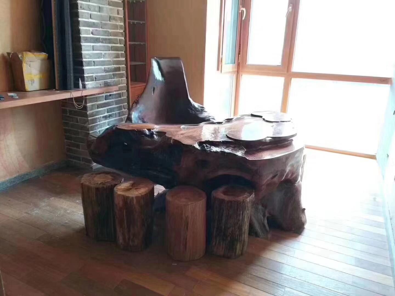 长沙130平中式古典风格阳台桌椅