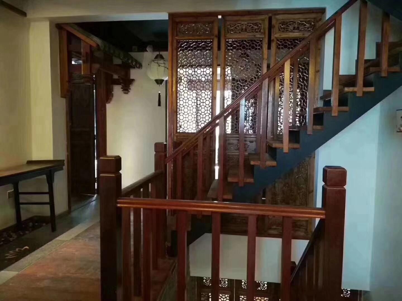 长沙130平中式古典风格楼道图