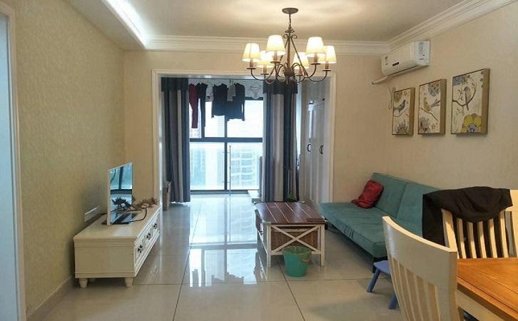 长沙64平简欧风客厅展示图片