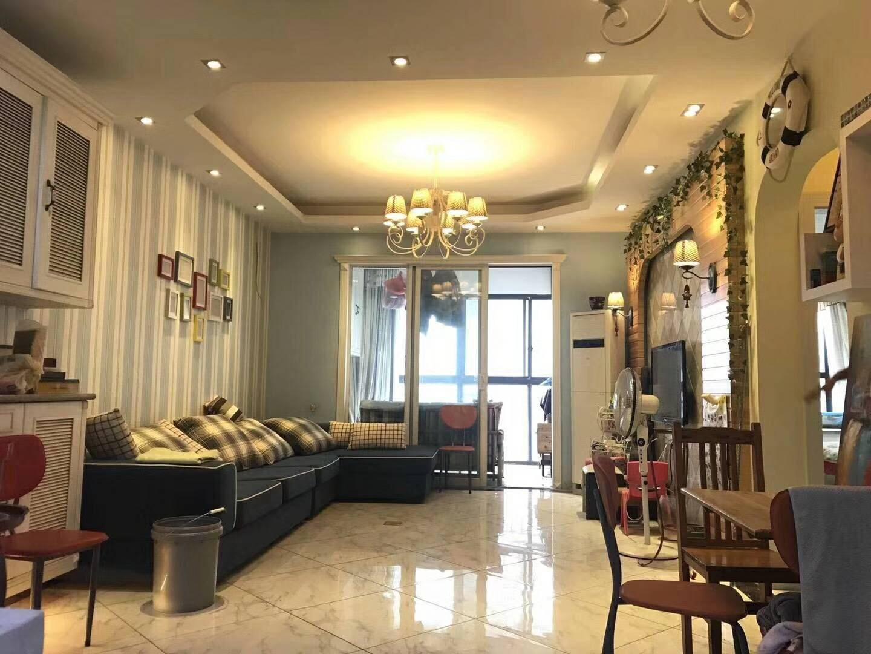 长沙86平米地中海风格客厅装修效果图