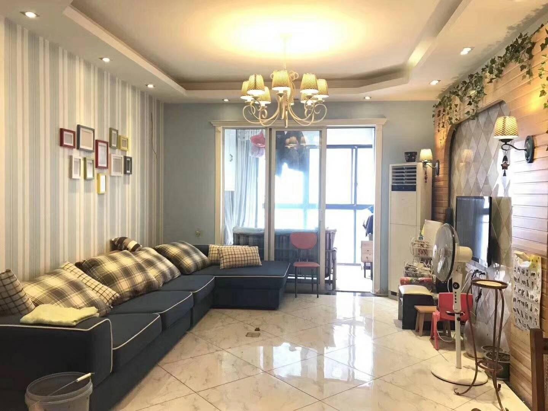 长沙86平米地中海风格客厅欣赏图