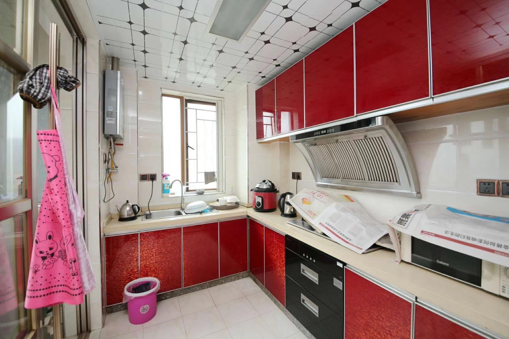 长沙云顶翠峰128平米新中式厨房装修效果图