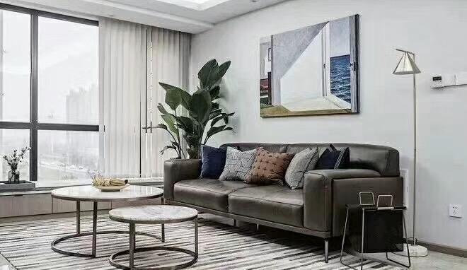 株洲110平米现代简约客厅装修效果图