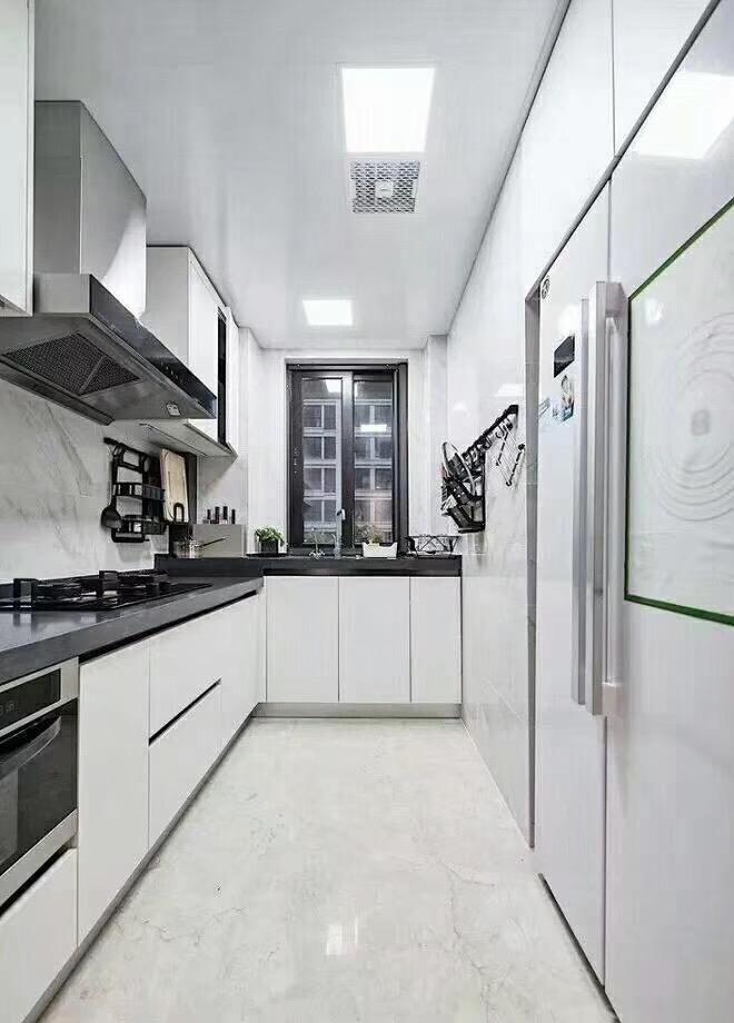 株洲110平米现代简约厨房全景图