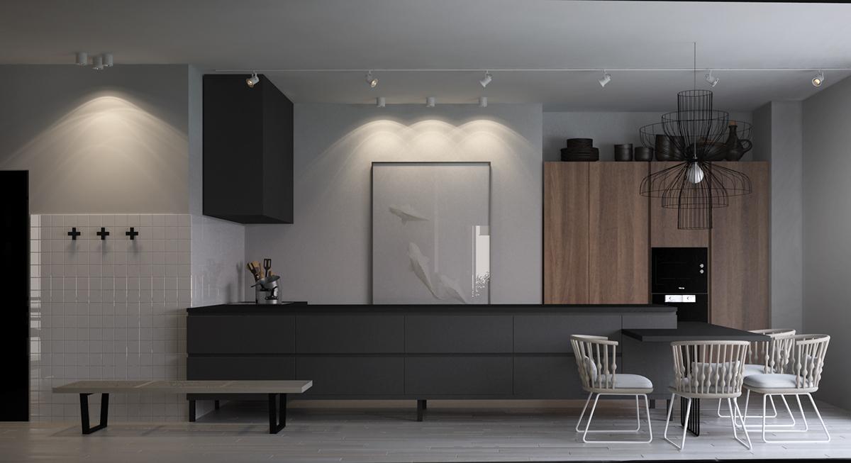 86平米北欧现代风格客厅装修效果图