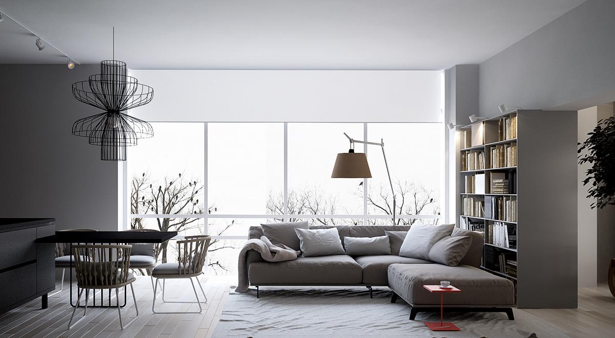 86平米北欧现代风格客厅装饰搭配
