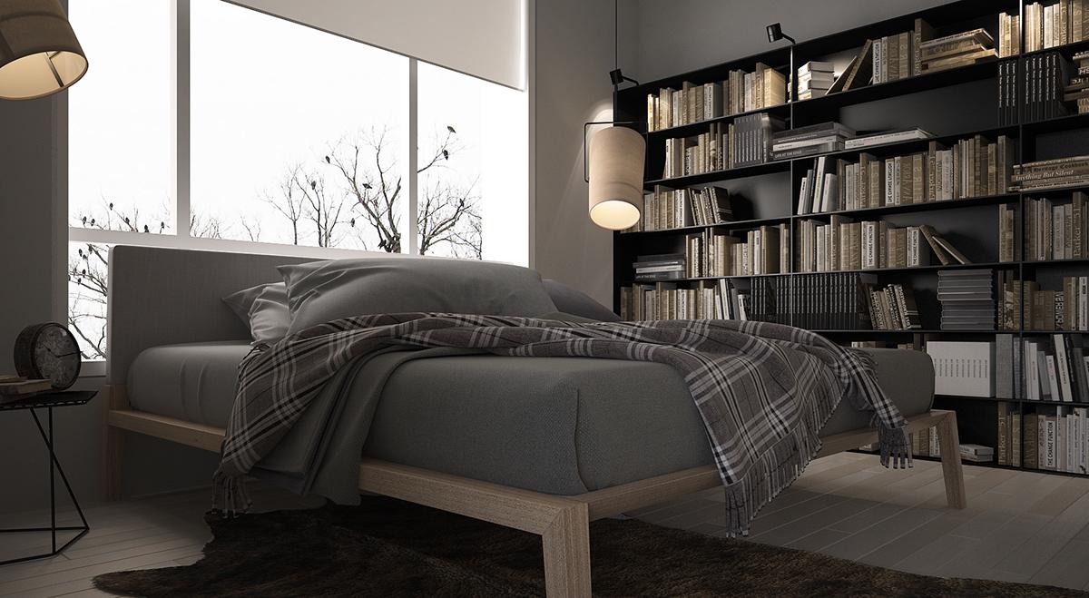86平米北欧现代风格卧室装修效果图