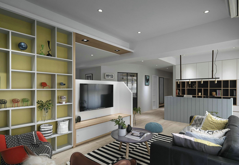 90平米北欧现代风格客厅装修效果图