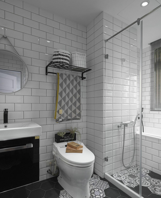 90平米北欧现代风格卫生间装修效果图