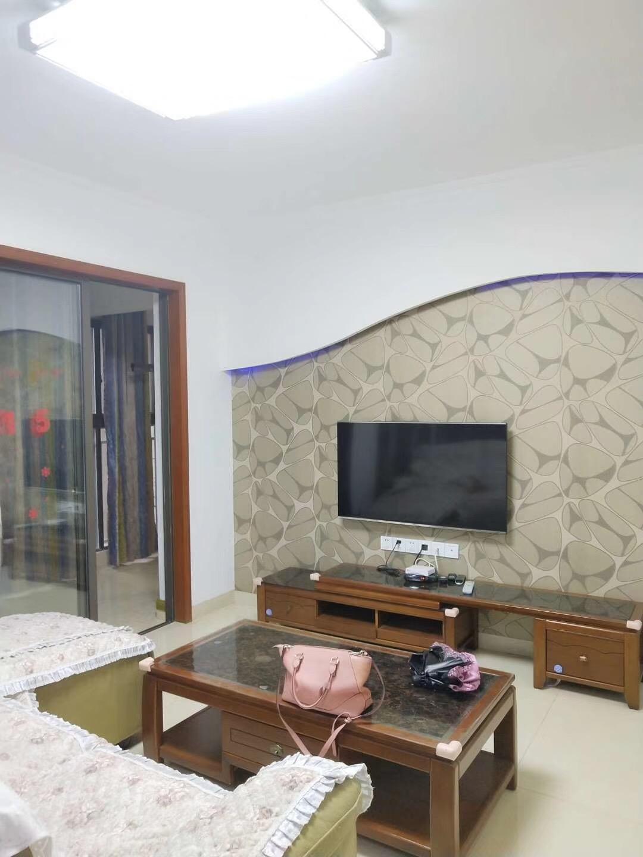 90平米简约北欧风格客厅电视背景墙展示