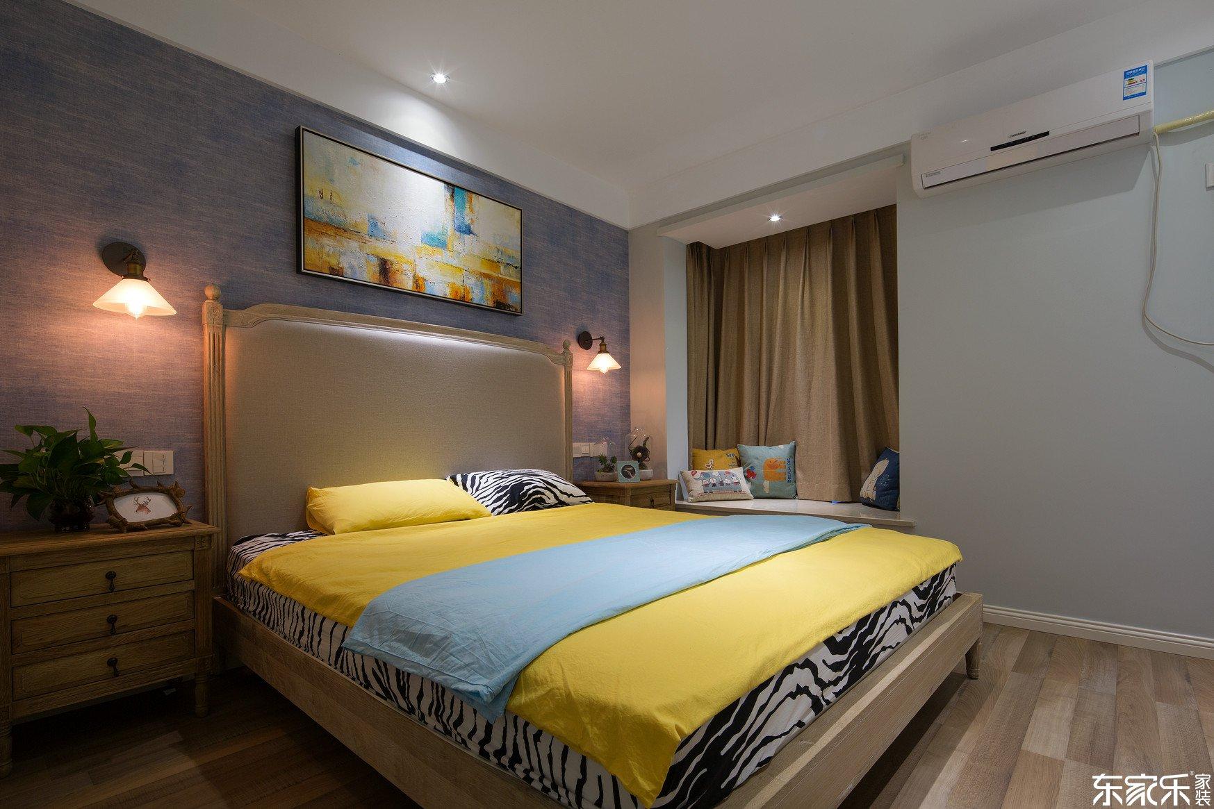 70平米混搭风格卧室装修效果图