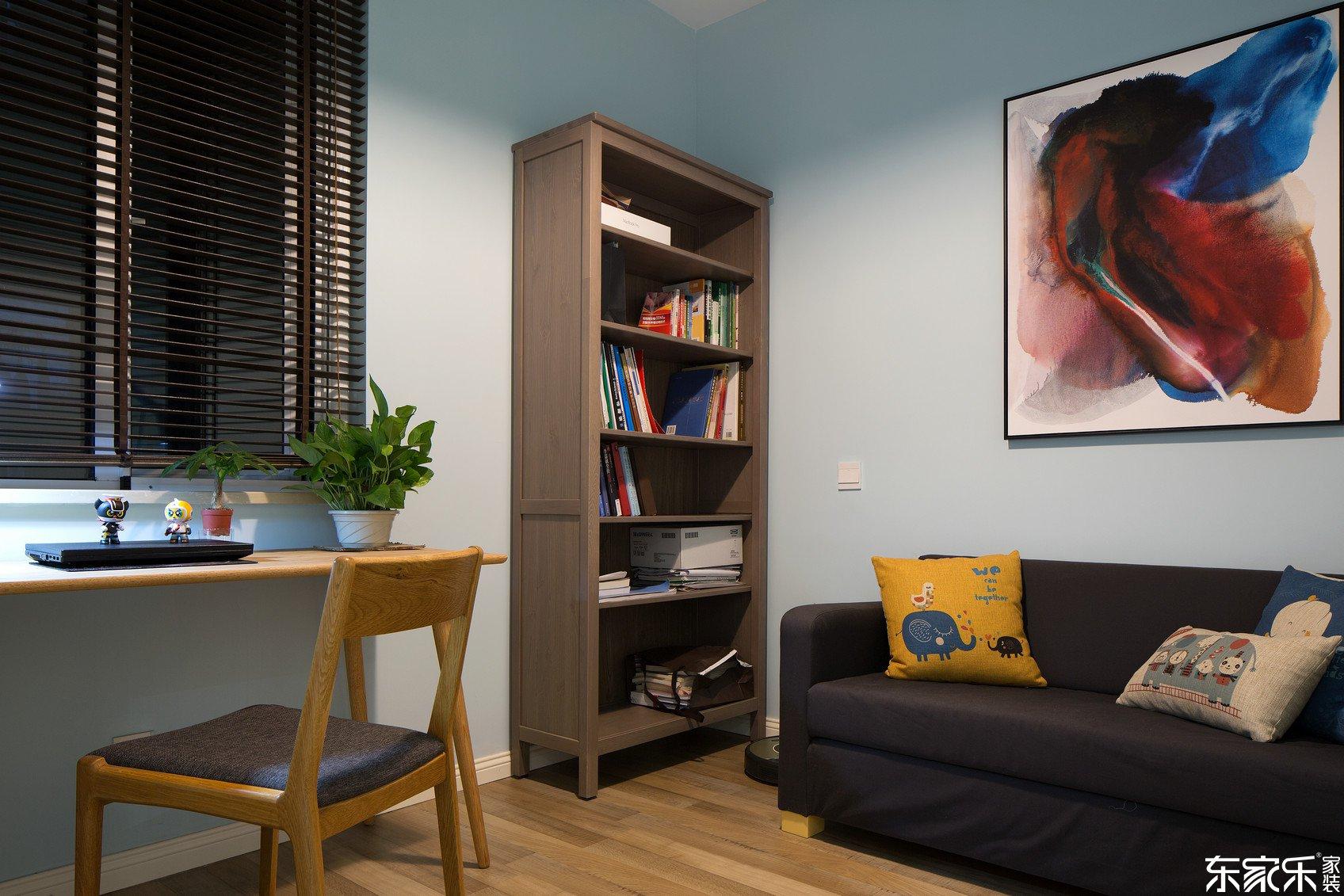 70平米混搭风格书房装修效果图
