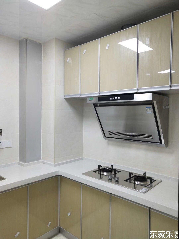 80平米现代简约风格厨房橱柜吊柜图片