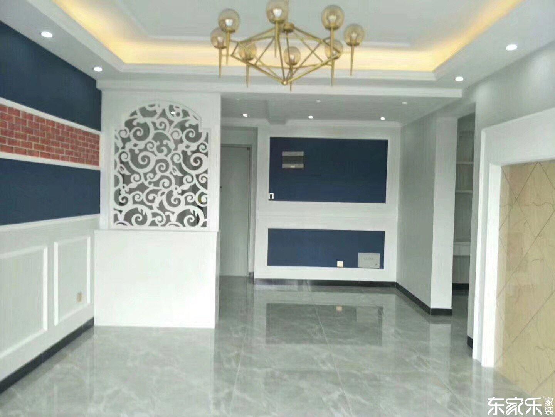 96平米北欧现代风格客厅雕花屏风装饰