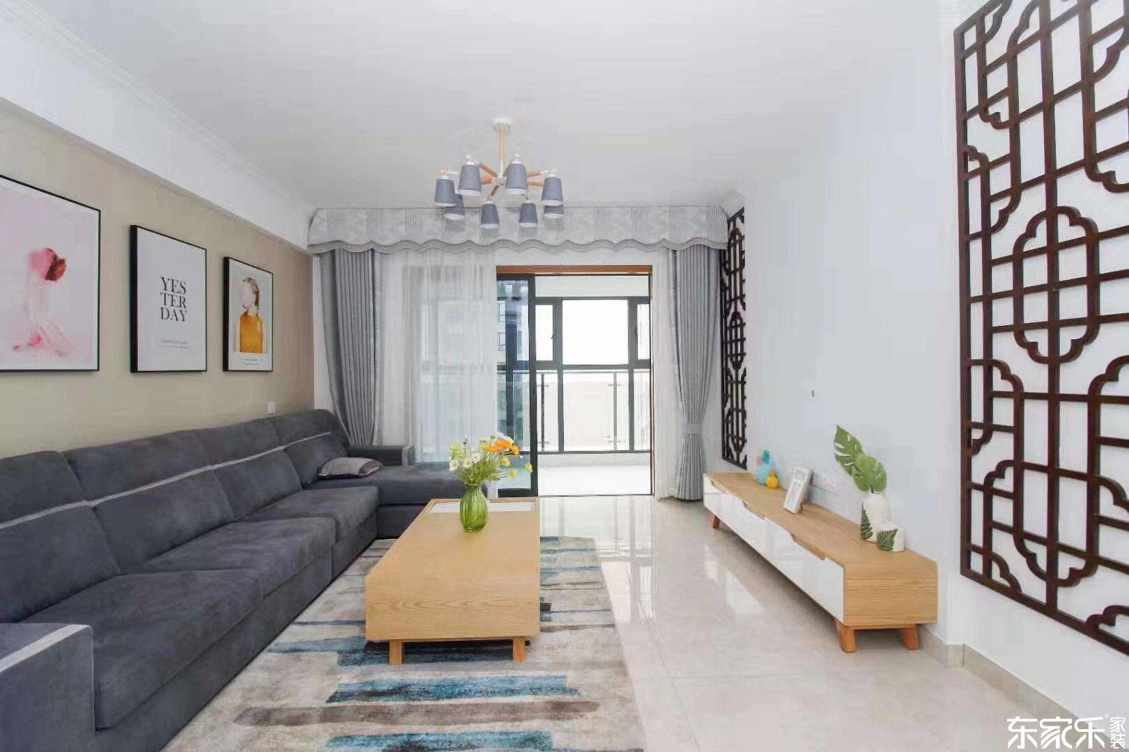 115平米北欧风格客厅装饰搭配