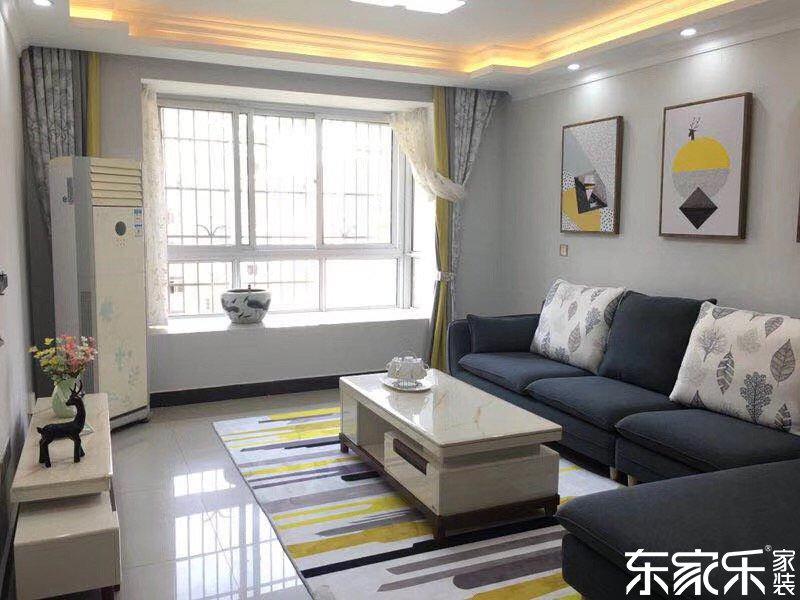 湘潭中央公馆110平个性混搭装修案例 简单装饰却也大气时尚