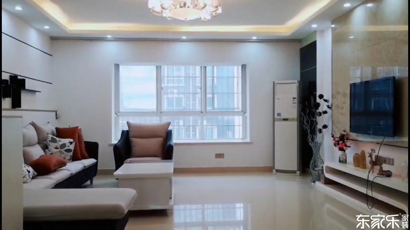 长沙时代倾城100平米现代简约风格装修案例