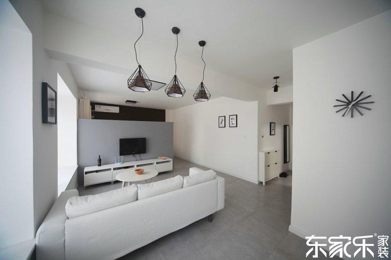 衡阳湘环苑90平现代简约风格装修案例