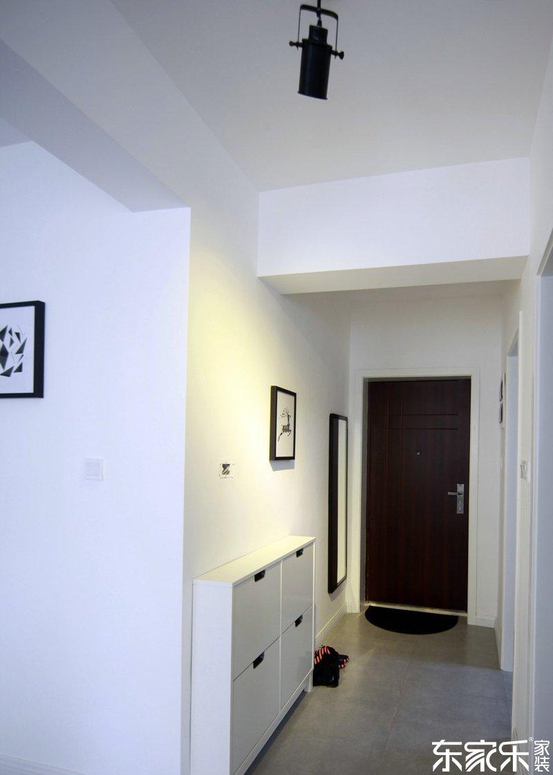衡阳90平现代简约风格客厅玄关装饰设计