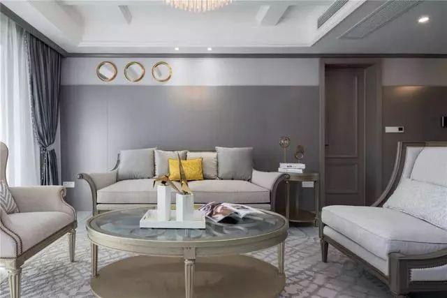 长沙新城和樾150平大户型美式风格装修案例