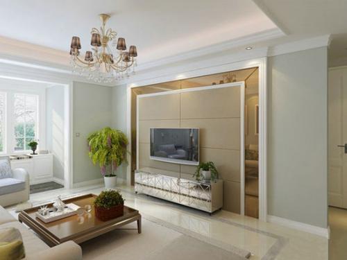 客厅电视背景墙怎样设计效果更完美?