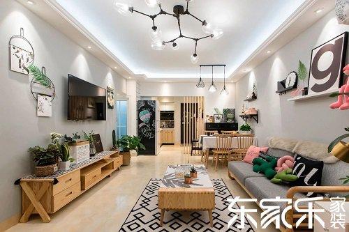 90㎡北欧风三室装修,大白墙搭配原木家居美感十足
